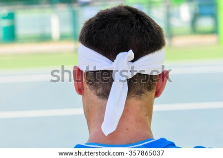 Man tennis player - stock photo