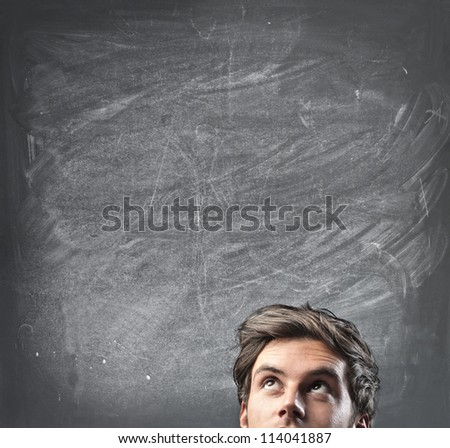 Man thinking - stock photo