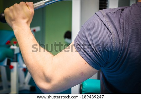 man training in the gym - stock photo