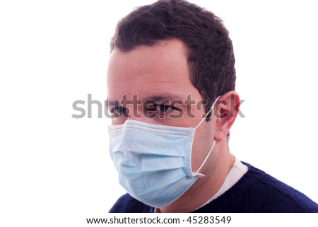 man with a medical mask - stock photo
