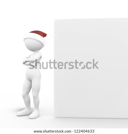 Man with Big Board - stock photo