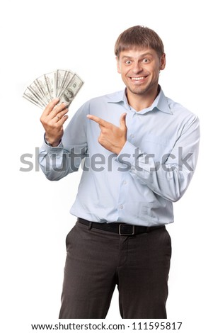 Man with cuts in hand. Business training.  - stock photo
