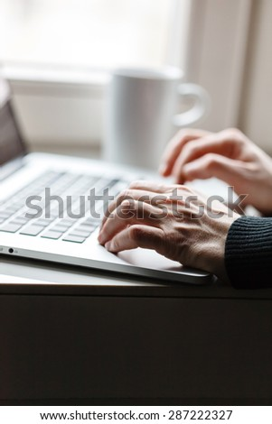 man with laptop - stock photo
