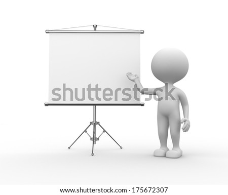 man with presentation - stock photo