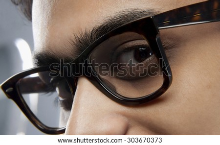 Man with spectacles - stock photo