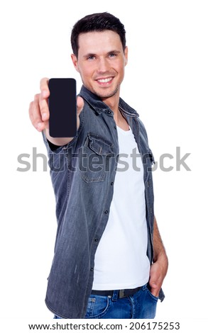 man with telephone - stock photo