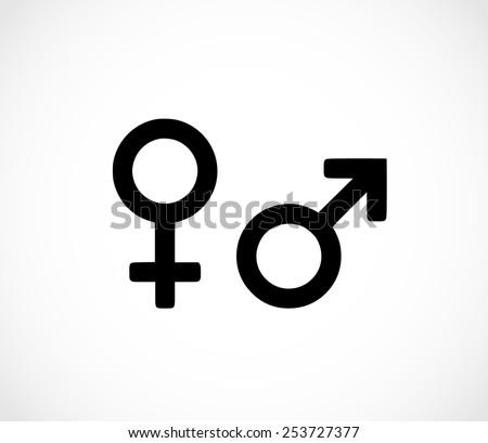 Man woman symbol icon - stock photo