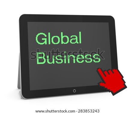 man write global business - stock photo