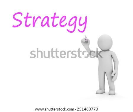 man write stratege - stock photo