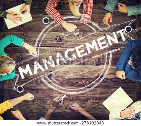 Management Manager Trainer Director Role Model Concept - stock photo