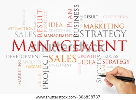 Management words concept - stock photo