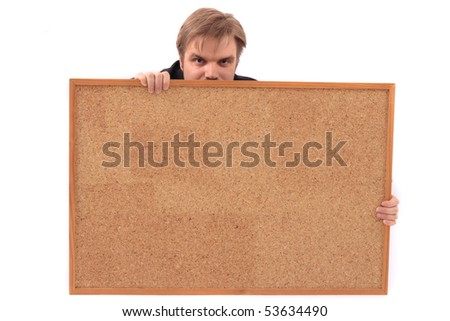 manager and empty board - stock photo