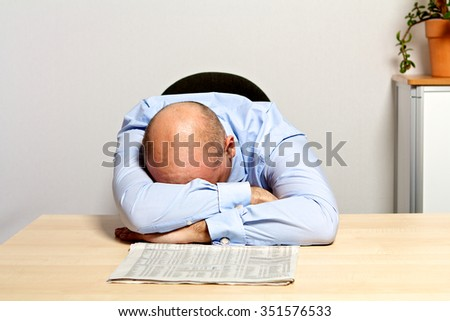 Manager is disappointed about falling stock prices. - stock photo
