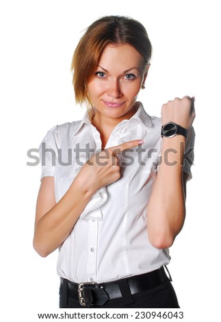 Manager with wristwatch - stock photo