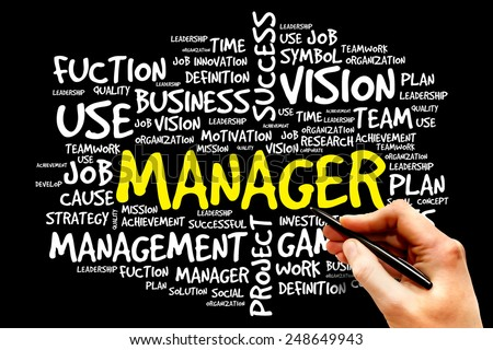 MANAGER word cloud, business concept - stock photo
