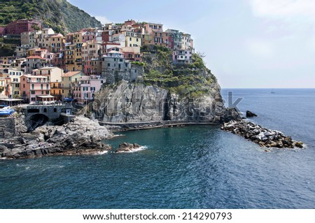Manarola - Cinque Terre in Italy - stock photo