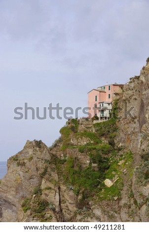 Manarola in the national park Cinque Terre in Italy - stock photo