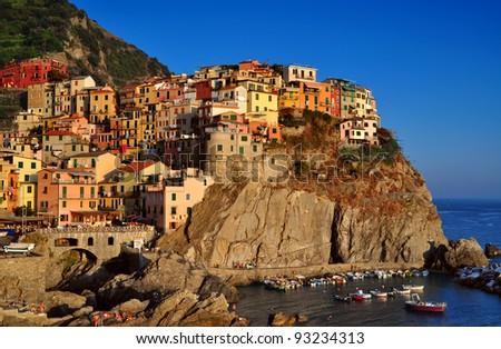Manarola landscape, Cinque Terre, Liguria, Italy - stock photo