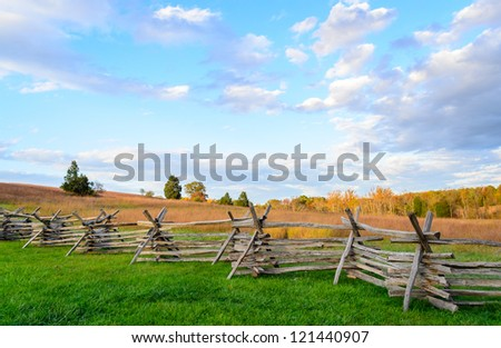 Manassas National Battlefield Park - stock photo
