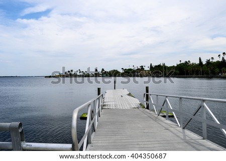 Manatee River Dock - stock photo