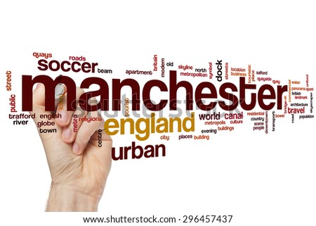 Manchester word cloud concept - stock photo