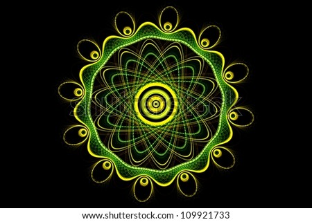 Mandala - fractal - stock photo