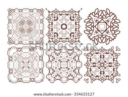 Mandalas. Vintage decorative elements. Oriental pattern, raster version. Islam, Arabic, Indian, turkish, pakistan, chinese, ottoman motifs - stock photo