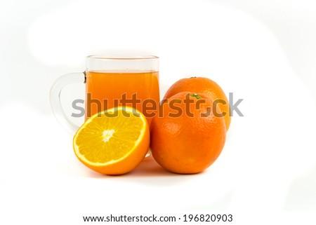 Mandarin orange juice - stock photo