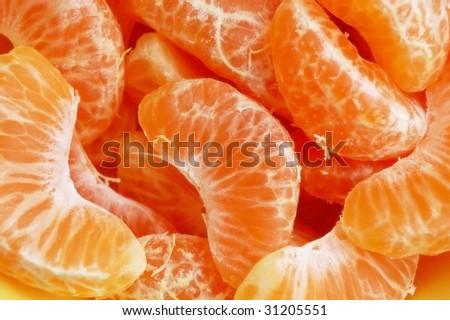 mandarin segments - stock photo