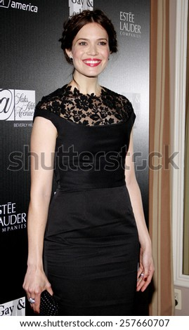 Mandy Moore at the Los Angeles Gay & Lesbian Center Honors Rachel Zoe held at the Sunset Tower Hotel, California, United States on January 23, 2012.  - stock photo