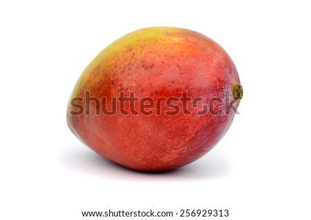 Mango (isolated on white background) - stock photo
