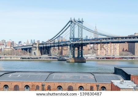 Manhattan Bridge, New York - stock photo