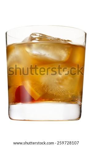 manhattan drink - stock photo