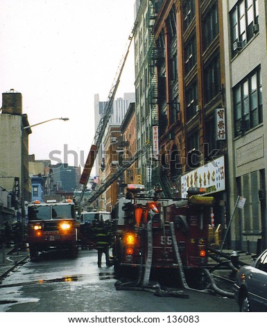 Manhattan Fire1 - stock photo