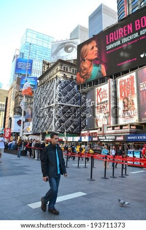 MANHATTAN, NY- SEPTEMBER 21: Manhattan Architecture , and Lifestyle in New York, USA on September 21, 2013. One of the 5 boroughs of New York City, the smallest but also the most populated. - stock photo