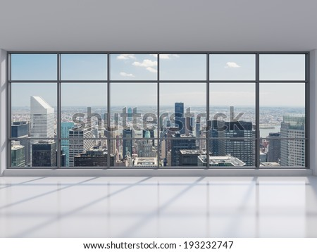 Manhattan office city view - stock photo