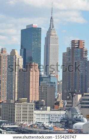 Manhattan Skyline with Empire State Building - stock photo