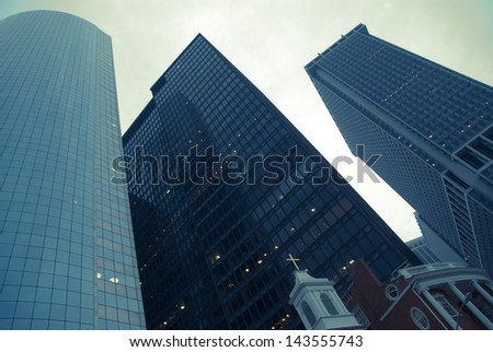 Manhattan Skyscrapers, New York City - stock photo