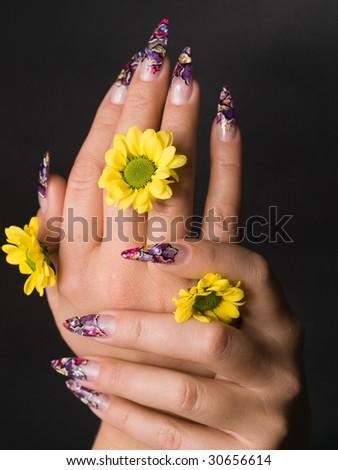 manicure - stock photo