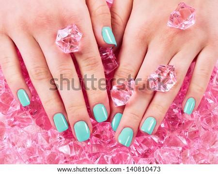manicure and pedicure - stock photo