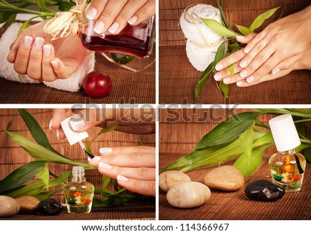 MANICURE & PEDICUR - stock photo