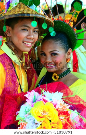 MANILA, PHILIPPINES - APRIL 24: Aliwan Festival, a yearly parade of cultural festivals that could be found in the country, this year's main event was held on April 24, 2010 Manila, Philippines. - stock photo