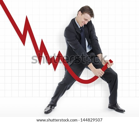 Manipulating the losses or cheating the charts - stock photo