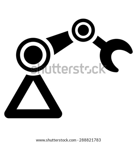 Manipulator icon from Business Bicolor Set. This flat raster symbol uses black color, rounded angles, and isolated on a white background. - stock photo