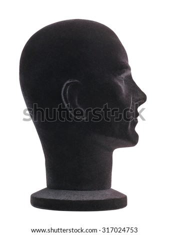 mannequin head profile - stock photo
