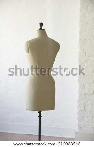 Mannequin indoors, back view - stock photo