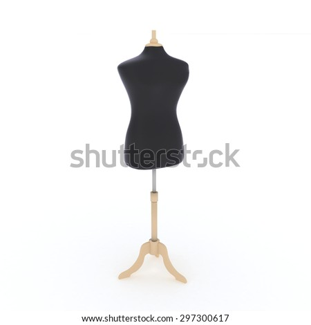 mannequin isolated on white background - stock photo