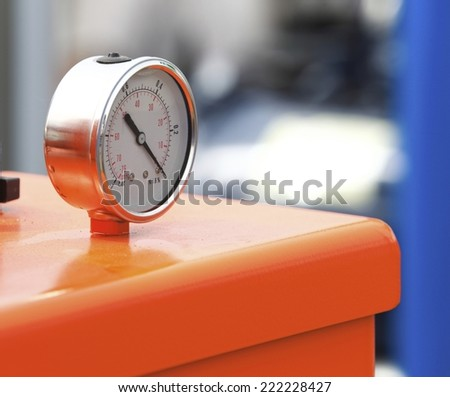 Manometer precise measuring instrument pressure gauge - stock photo