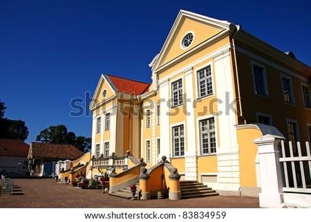 Manor in the north of Estonia. 18 century. Palmse. - stock photo