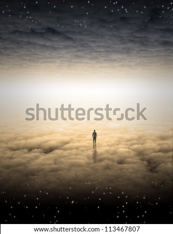Mans Journey of the Soul - stock photo